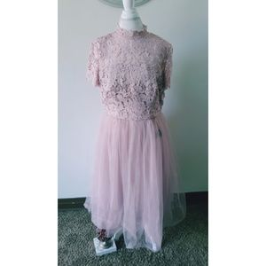 Plus Size Prom | Pink Lace Dress| New w/tags